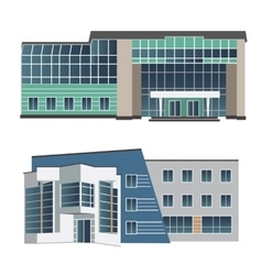 Set of two modern buildings vector