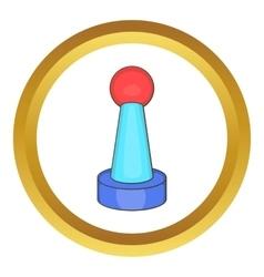 Stick shift icon vector