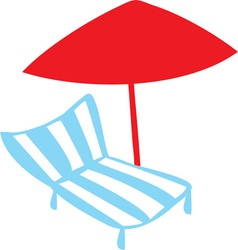 Summer lounge chair vector