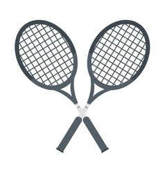 Two racket crossed tennis graphic vector
