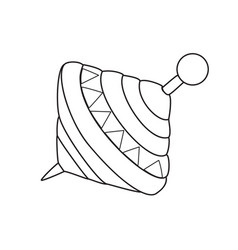 Whirligig for coloring vector