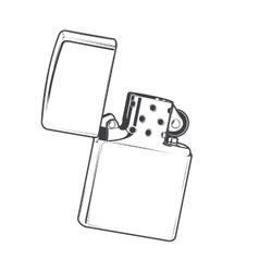 Zippo lighter vector image