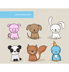 Animal set 1 vector