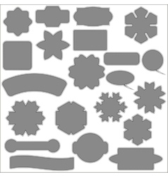 Set of different grey banners vector