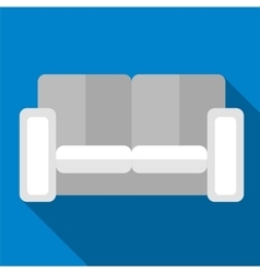 Sofa flat icon vector image