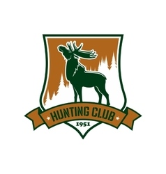 Hunting sport club badge or emblem vector