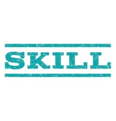 Skill watermark stamp vector
