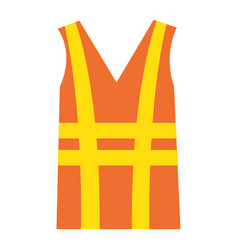 Construction jacket isolated icon vector
