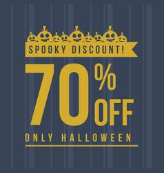 Halloween sale with pumpkin background vector