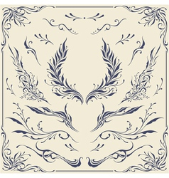 Floral frame and border ornaments vector