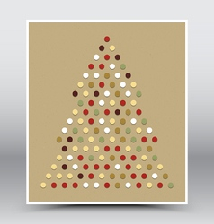Happy christmas hand made poster vector
