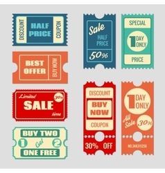 Sale tickets collection vector
