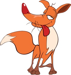 Young fox cartoon vector