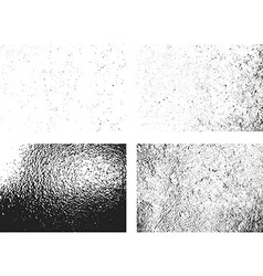 Grunge monochrome rough texture set vector
