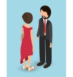 Isometric people graphic design vector