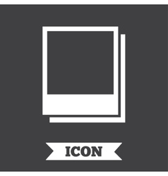 Photo frames template icon empty photography vector