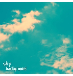 background with sky and clouds vector image vector image