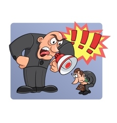 Boss yelling at his worker vector image vector image