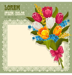 Bouquet of spring flowers vector image vector image