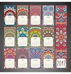 Calendar in ethnic style vector image vector image
