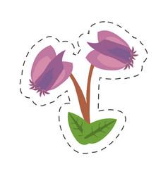Cartoon purple flower image icon vector