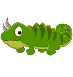 Chameleon cartoon vector image vector image