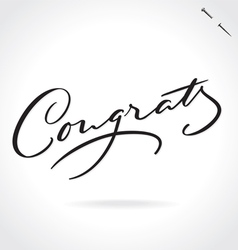 Congrats hand lettering vector