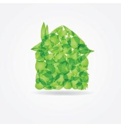 Ecological concept small green house vector