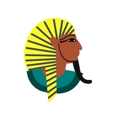 Egyptian pharaoh icon flat style vector