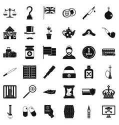 Encroachment icons set simple style vector