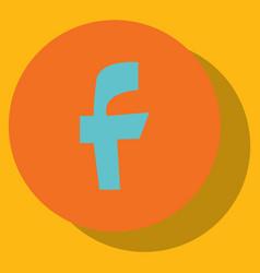 facebook logotype social network icon vector image vector image