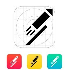 Festive rocket icon on white background vector