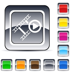 film square button vector image vector image