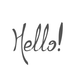 Hello spring draw Lettering vector image vector image