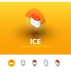 Ice icon in different style vector
