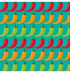 Red chili pepper pattern vector