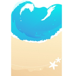 Sandy beach waves vector image vector image