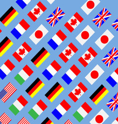 Seamless pattern flag g7 vector image