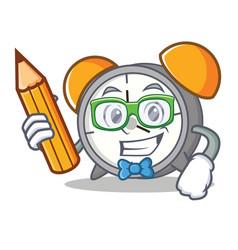 student alarm clock character cartoon vector image