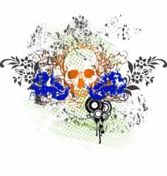 Tattoo skull grunge vector