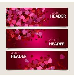Valentine headers set vector