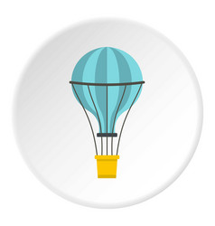 Yellow airship icon circle vector