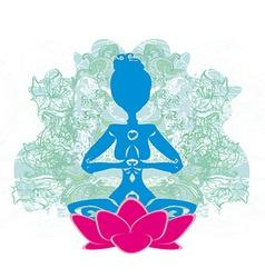 Yoga and spirituality vector