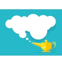Aladdin lamp with Jean cloud vector image