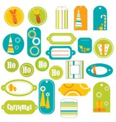 Stickers retro vector