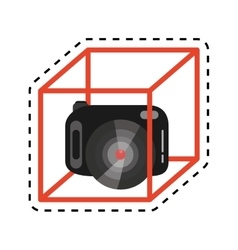 Vr camera digital video function design cut line vector