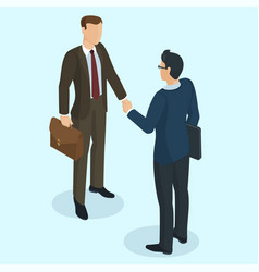 successful businessmen handshaking vector image