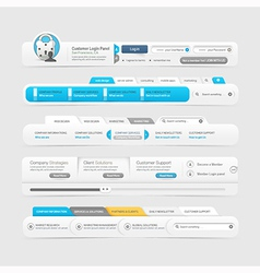 Website menu design vector