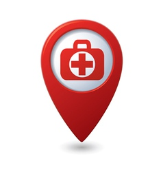 medical icon red pointer vector image
