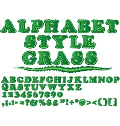 ALPHABET STYLE GRASS vector image